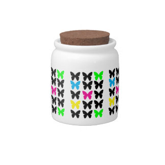 Colorful Butterflies Candy Jars