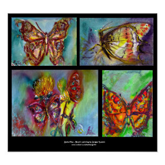 COLORFUL BUTTERFLIES  COLLECTION POSTER