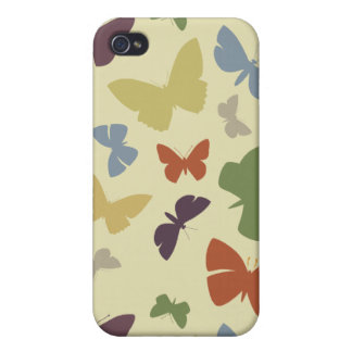 Colorful Butterflies  Cover For iPhone 4