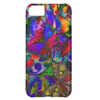 Colorful butterflies cover for iPhone 5C