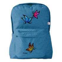 Colorful Butterflies Custom Backpack