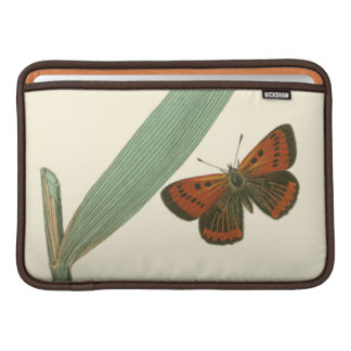Colorful Butterflies Fluttering Around a Leaf Sleeve For MacBook Air