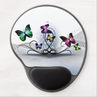 Colorful Butterflies Gel Mouse Pad