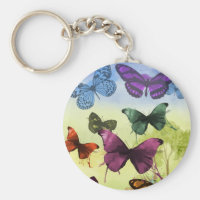 Colorful Butterflies Keychain