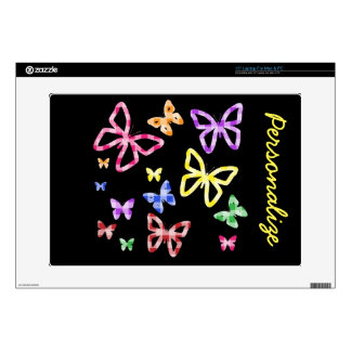 """Colorful Butterflies"" Laptop Skin"