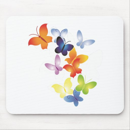 Colorful ButterFlies Mouse Pads
