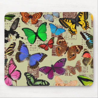 Colorful Butterflies Mouse Pad