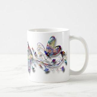 Colorful Butterflies Classic White Coffee Mug