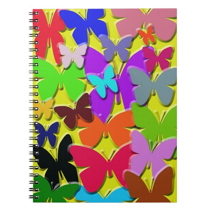 Colorful Butterflies Notebook