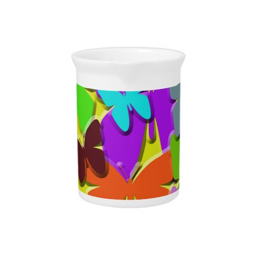 Colorful Butterflies Pitcher