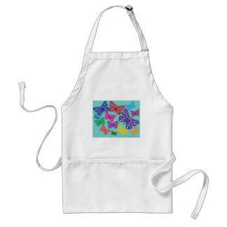 Colorful Butterflies.png Adult Apron