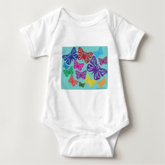 Colorful Butterflies.png Baby Bodysuit