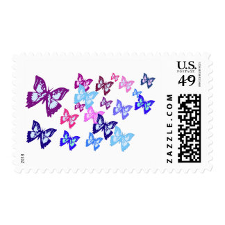 Colorful Butterflies Postage Stamp