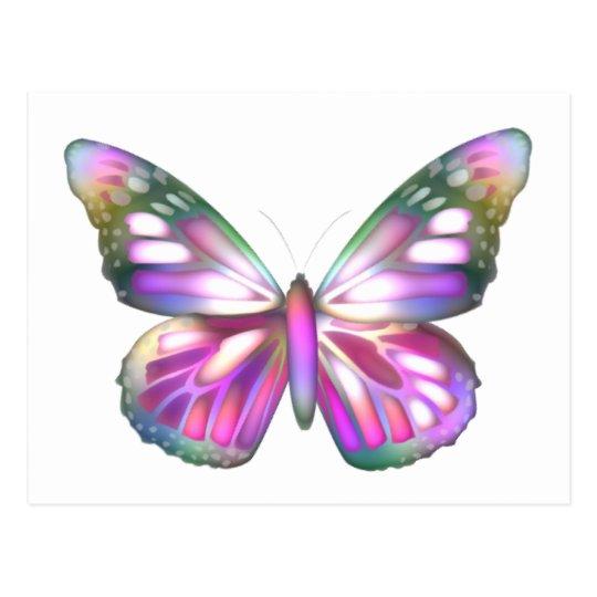 Colorful Butterflies Postcard