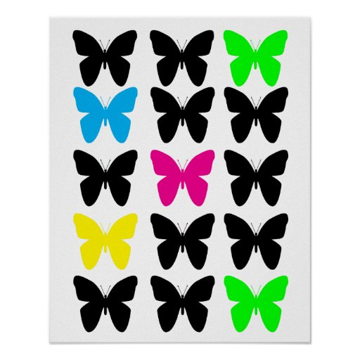 Colorful Butterflies Poster