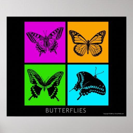 Colorful Butterflies Print