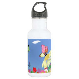Colorful Butterflies Stainless Steel Water Bottle