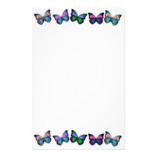Colorful Butterflies Stationery