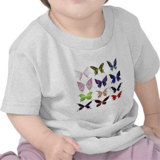 Colorful butterflies t shirt