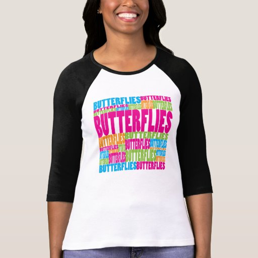 Colorful Butterflies T Shirts
