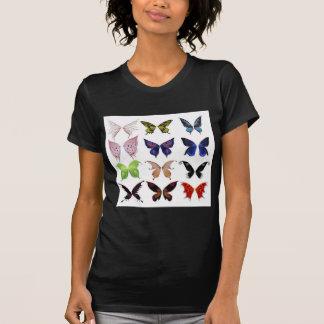 Colorful butterflies tee shirt