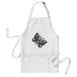 Colorful Butterfly 1 Adult Apron