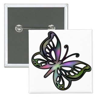 Colorful Butterfly 1 Button