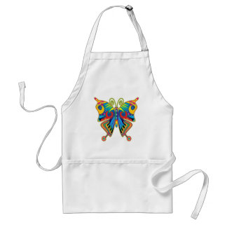Colorful butterfly adult apron