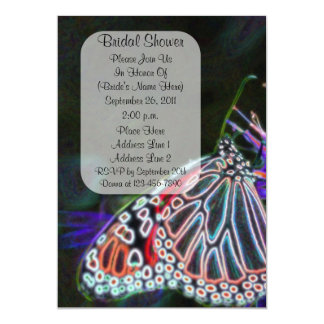 "Colorful Butterfly Art Bridal Shower Invite 5"" X 7"" Invitation Card"