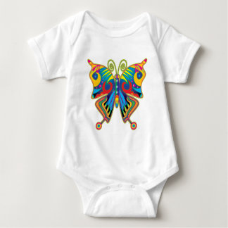 Colorful butterfly baby bodysuit