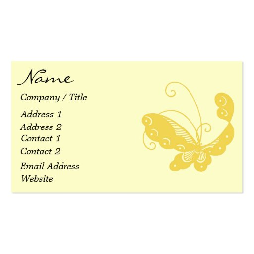 Colorful butterfly business card zazzle for Butterfly business cards