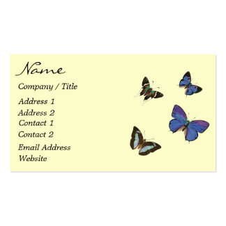 Colorful Butterfly Business Card