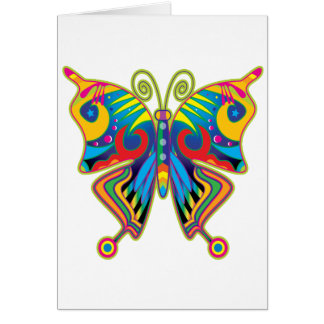 Colorful butterfly card