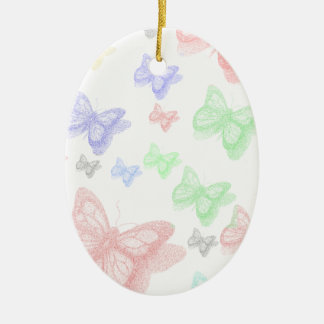 COLORFUL BUTTERFLY CERAMIC ORNAMENT