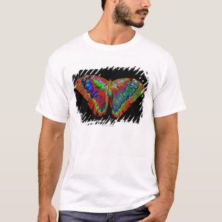 Colorful Butterfly design against black backdrop 3 T-Shirt