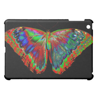 Colorful Butterfly design against black backdrop Case For The iPad Mini