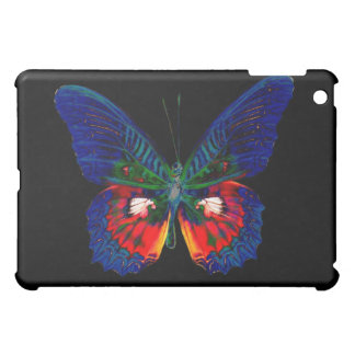 Colorful Butterfly design against black backdrop iPad Mini Cover