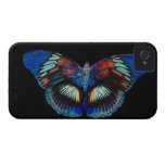 Colorful Butterfly design against black backdrop iPhone 4 Cover