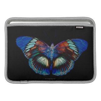 Colorful Butterfly design against black backdrop MacBook Sleeve
