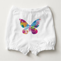 Colorful Butterfly Diaper Cover