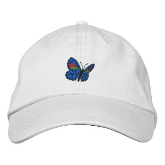Colorful Butterfly Embroidered Cap