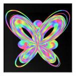 Colorful butterfly geometric figure acrylic print