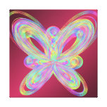 Colorful butterfly geometric figure. canvas print