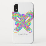 Colorful butterfly geometric figure iPhone XR case