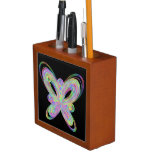 Colorful butterfly geometric figure desk organizer