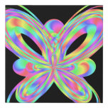 Colorful butterfly geometric figure faux canvas print