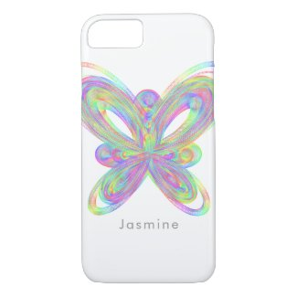 Colorful butterfly geometric figure. iPhone 8/7 case