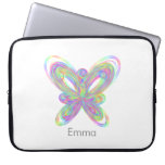 Colorful butterfly geometric figure laptop sleeve
