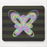 Colorful butterfly geometric figure mouse pad