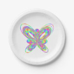 Colorful butterfly geometric figure paper plate